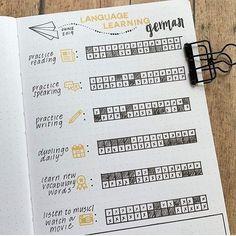 Bullet Journal Vocabulary, Bullet Journal Notebook, Bullet Journal Aesthetic, Bullet Journal School, Bullet Journal Spread, Bullet Journal Layout, Bullet Journal Inspiration, Study Journal, Book Journal