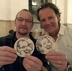 Optreden tijdens personeelsfeest van Maison van den Boer - De Karikaturist