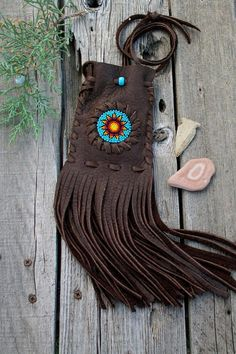 Beaded medicine bag beaded amulet bag necklace by thunderrose