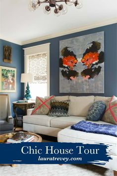 Cozy Den - Full of color and texture, tour this beautiful home tour