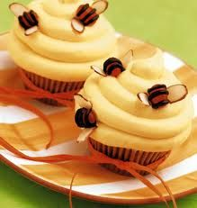 petites abeilles sur cup cakes