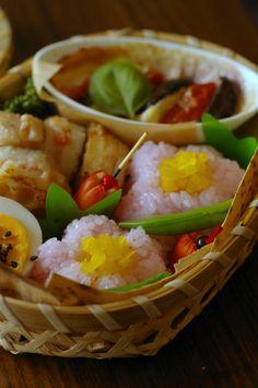 普通のお弁当:和菓子風のお弁当