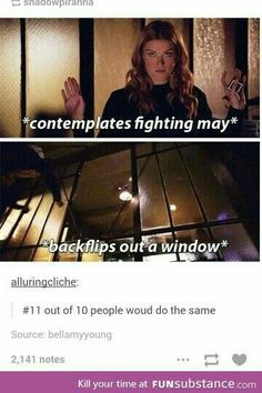 Yeah I definitely wouldn't want to fight Agent May...