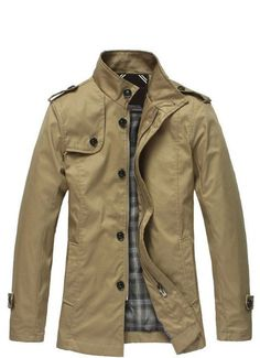 Khaki Army Casual Trench