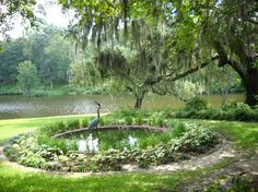 Middleton Place, Charleston, SC: Small pond beside the restaurant