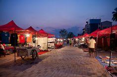 Night market in Vientiane