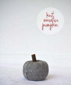 Alexandra Hedin :: Knit Sweater Pumpkin