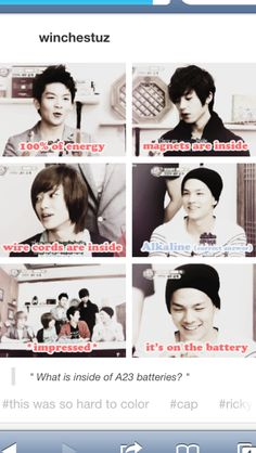 What's in a battery according to Teen top