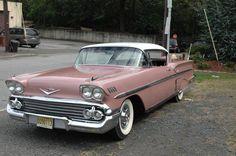 Chevrolet: Impala 1958 coral cay 348 cid 4 speed professionally restored beautiful car