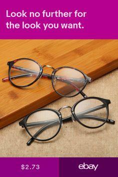 9c6a43ed8e Vintage Men Women Retro Round Eyeglasses Frame Glasses Eyewear Clear Lens  New