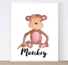 Monkey Art Printable Watercolour   https://www.vivabop.co.uk/products/monkey-art-printable-watercolour