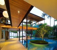 The Fish House, located in Singapore, was designed by Guz Architects to feel at one with nature.