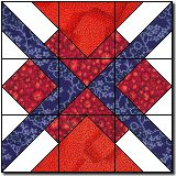 Argyle Square quilt block from Quilter's Cache