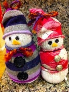 sock snowman :)