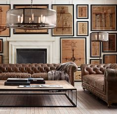 Chandelier and floor lamp | Restoration Hardware