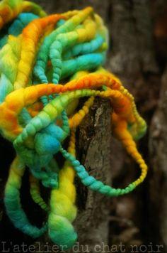 ANANAS & CURACAO écheveau de laine filée main