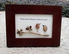 Framed Pebble Art  Rock Art  Appreciation Gift  Boss