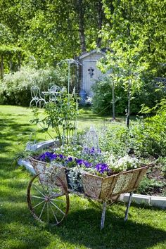 Beautiful and Charming old flower cart | Outdoor Areas