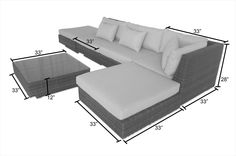 BuildDirect – Conversation Sets - Wicker Sectional Sets – Monte Carlo 6 Piece Sectional Sofa Set - Terracotta