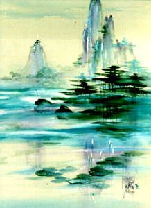 This is an example of a Japanese painting. The author of my story used Japanese drawings to interpret it. Japanese Drawings, Japanese Art, Chinese Brush, Chinese Art, Sumi E Painting, Watercolor Paintings, Pen And Wash, Japanese Painting, Tai Chi