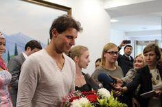 Rafael Nadal reaches Kazakhstan to play exhibition match against Tsonga