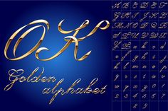 Decorative alphabet of gold by popskraft lab on @creativework247
