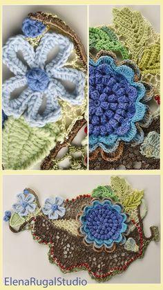 Freeform Crochet, Irish Crochet, Crochet Lace, Lace Art, Irish Lace, Simple Designs, Needlework, Crochet Necklace, Videos