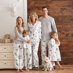 How adorable is this. Family pajama sets. There's many different patterns for all kinds of nights but I think this would especially be cute for Christmas morning.