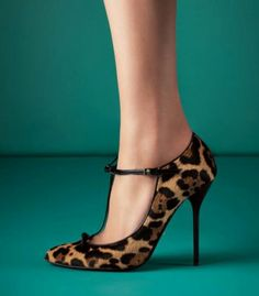 Gucci leopard print Beverly T- bar heels.  I have similar but fortunately with a thicker heel!