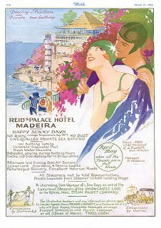 dancing pavilion and private sea-bathing reid's palace hotel madeira happy sunny days no rain, average temperature day 72.º F no dust unequa...