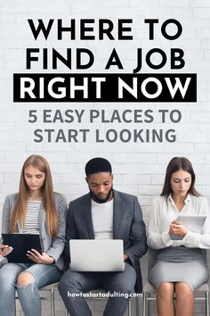 Where To Find A Job Right Now_ 5 Easy Places To Start Looking #jobsearch #jobhunt #career #jobhunting #adulting #careermoves Hiring Now, Jobs Hiring, Healthcare Careers, Finance Jobs, Successful Business Tips, Job Interview Tips, Corporate America, Job Security, Financial Tips