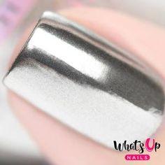 Rose Chrome Powder For Mirror Nails | Etsy Chrome Mirror Nails, Chrome Nails, Gold Chrome, Gel Nail Polish, Gel Nails, Acrylic Nails, Nail Polishes, Coffin Nails, Polish Words