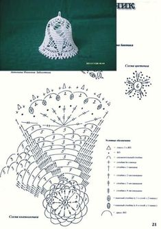 Witam:) To co wczoraj zobaczyłam na swojej tablicy na FB S - SalvabraniCrochet Patterns Christmas Photo only. No pattern - Salvabrani - SalvabraniAnges au crochet Plus - SalvabraniCrochet Bell About tall with threadLearning to knit crochet bells on Crochet Diagram, Crochet Chart, Thread Crochet, Crochet Motif, Crochet Flowers, Crochet Snowflake Pattern, Christmas Crochet Patterns, Holiday Crochet, Crochet Snowflakes