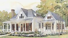 Someday I would love to build a home...a small farmhouse that lives large and filled with vintage details. This plan from Southern Living h...