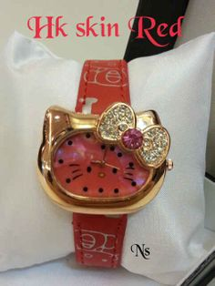 JAM TANGAN HELLO KITTY RED IDR 100.000 #hellokitty #jualan #jamtangan