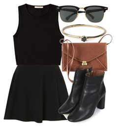 Untitled #4220 by laurenmboot on Polyvore featuring polyvore, fashion, style, Pieces, Topshop, H&M, Satomi Kawakita and Ray-Ban