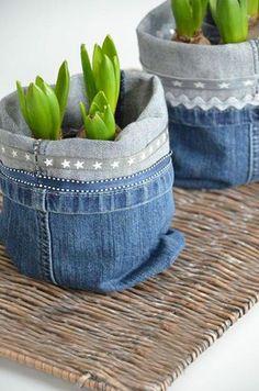 diy jeans planters