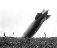 The Black-and-White Years: The Graf Zeppelin buzzes Wembley Stadium, 1930 FA Cup final