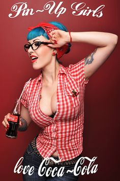 pin up girls love coca cola