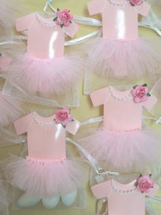Baby Girl Shower Tutu Favor bags 10 pieces