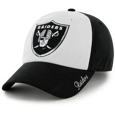 Women's '47 Brand Oakland Raiders Sparkle Slouch Adjustable Ha - NFLShop.com