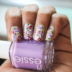 Learn how to create this easy floral look on your nails!
