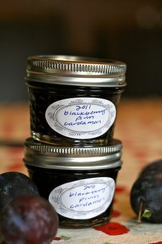 preserving: blackberry plum cardamom jam