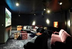 (at a start-up company.but what a cool home theater idea! Def for a finished basement. :) 22 Gorgeous Startup Offices You Wish You Worked In Office Interior Design, Office Interiors, Cool Office Space, Office Spaces, Work Spaces, Startup Office, Lounge, Workspace Inspiration, Workplace Design