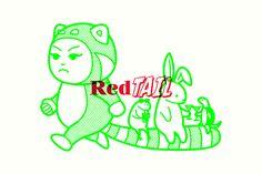 RedTail branding by Bravo Rocks Craft Cocktails, Party Drinks, Food Branding, Branding Design, Food Packaging, Brand Character, Character Design, Sausage And Mash, Panda Costumes