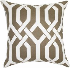 A bold, geometric patterned pillow   perfect accent to add to my newly refreshed/revamped/reoriented living room that i love!
