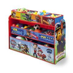 Nick Jr. Paw Patrol Deluxe Multi-Bin Toy Organizer