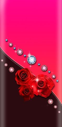By Artist Unknown. Bling Wallpaper, Cover Wallpaper, Flower Background Wallpaper, Luxury Wallpaper, Wallpaper For Your Phone, Wallpaper Iphone Cute, Flower Backgrounds, Cellphone Wallpaper, Beautiful Flowers Wallpapers