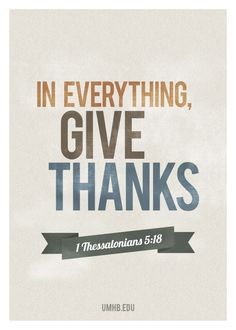 In All Things Give Thanks Poster