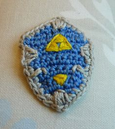 All About Ami - Pattern: Link's Hylian Shield, Sword and Sheath